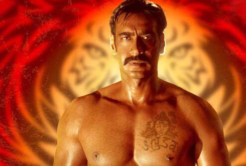 Ajay Devgan Tattoo on Chest