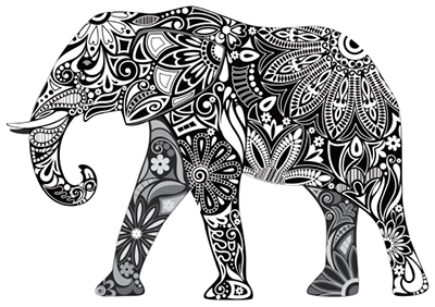 artistic-elephant-tattoo