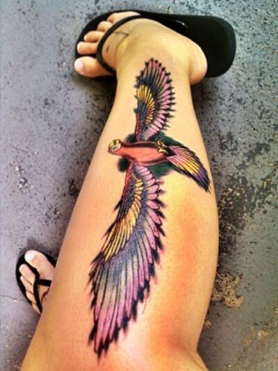 Eagle Tattoo on Leg