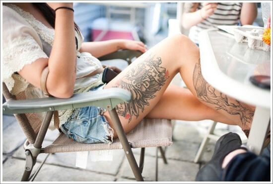 Hot Sexy Thigh Tattoos for Women