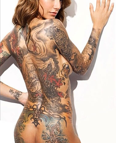 Sexiest Tattoo on Women Back