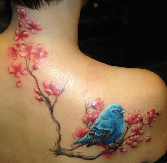 Upper Back Tattoos for Women