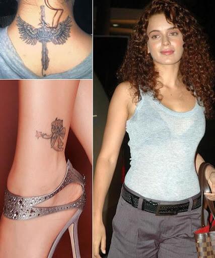 Tattoo Design on Kangana Ranaut