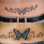 Beautiful Butterfly Tattoo on Hip