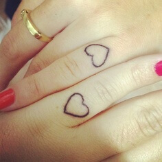 Heart Tattoo Ideas on Hand