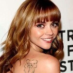 Christina Ricci Tattoo on Back