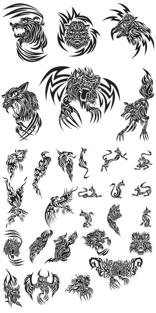 Vector Animal Tattoo