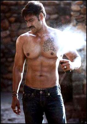 Ajay Devgan tattoo on chest