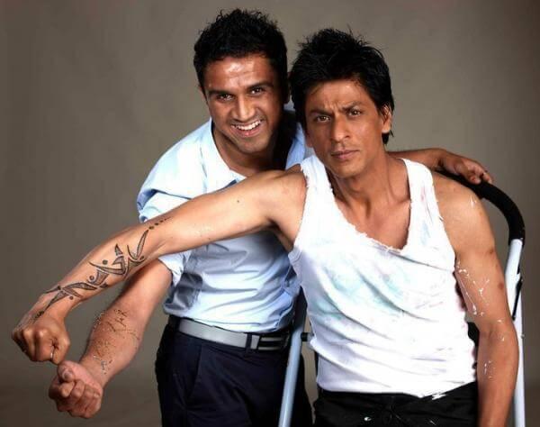 Shahrukh khan tattoo on arm