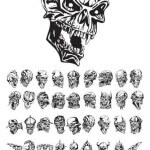 Creative Skulls Mix Tattoo Design