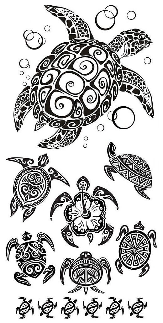 Decorative turtles tattoo ideas
