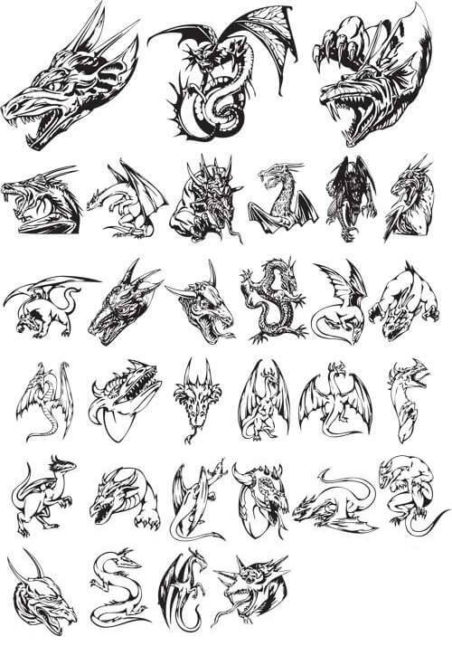Furious dragon tattoo