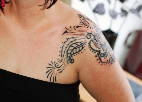 Shoulder Tattoos for Women Designs and Ideas