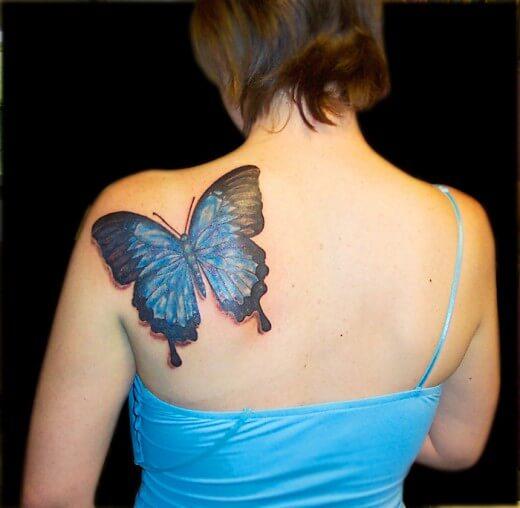 3d Butterfly Tattoos for Women