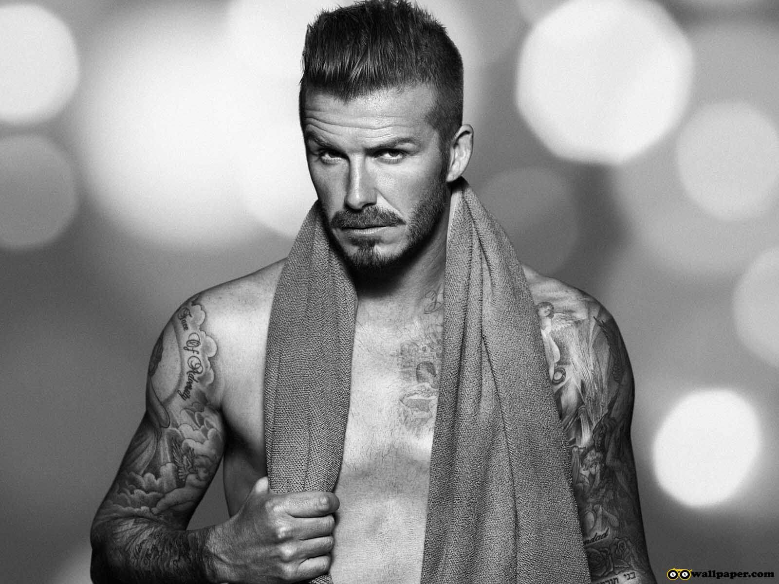 Amazing David Beckham Cool Tattoo Design