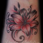 Awesome Lily Flower Tattoo Designs