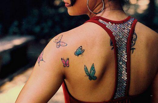 Back Butterfly Tattoos Ideas for Women