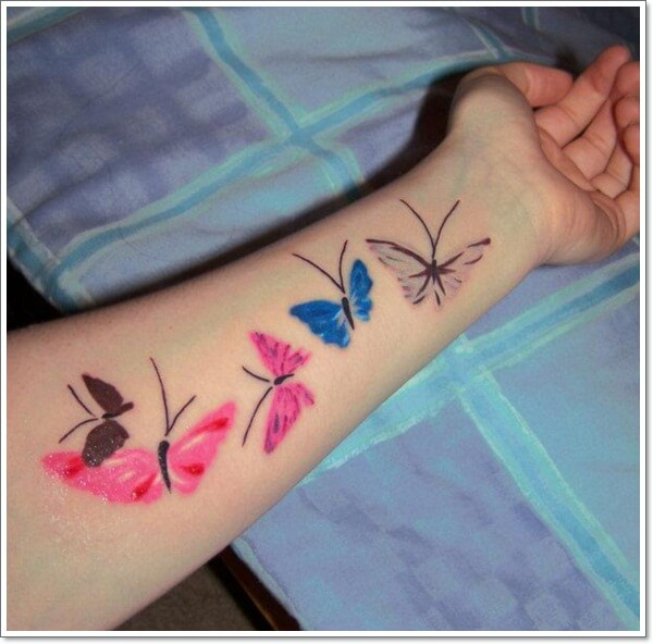 Colorful Butterfly Tattoo on Arm
