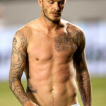 David Beckham Chest Tattoos