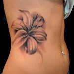 Flower Tattoo For Girls On Side