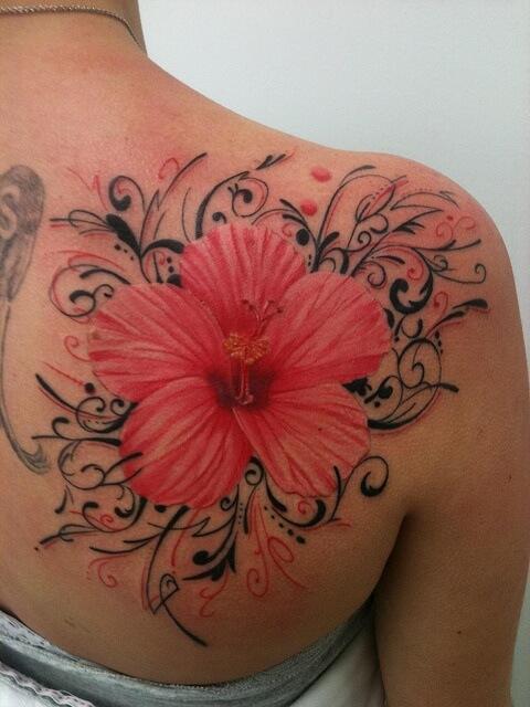 Amazing Hibiscus Flower Tattoos Ideas