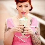Milkshake Tattoo Girl