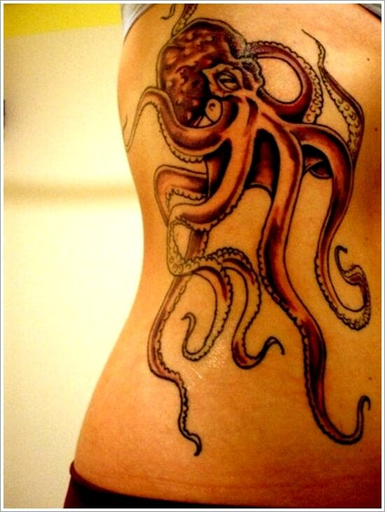 Octopus Tattoo Design for Backside