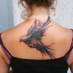 Pigeon Back Tattoo Ideas for Girls