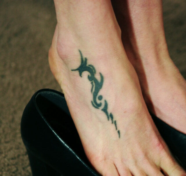 Sexy Tribal Foot Tattoo for Women