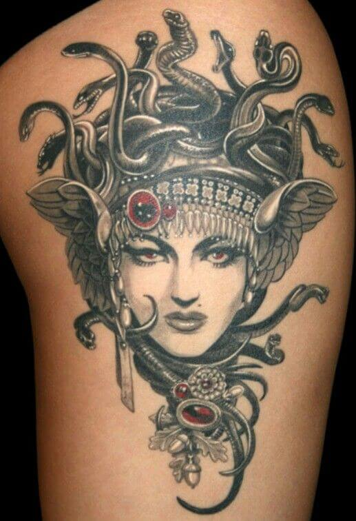 Upper Arm Medusa Tattoo Design