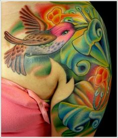 3d Hummingbird Tattoo Designs