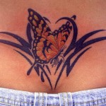 Beautiful Butterfly Tribal Tattoos Design