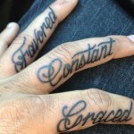 Inside Finger Tattoo Ideas for Men