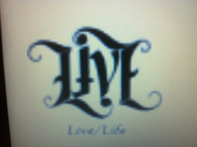Live Tattooed in Ambigram