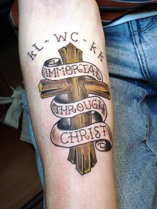 Cross Tattoo Designs for Men on Arm