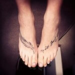 Cross Tattoo Designs for Women Foot