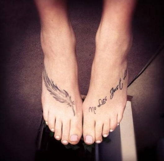 Cross Tattoo Designs for Women Foot