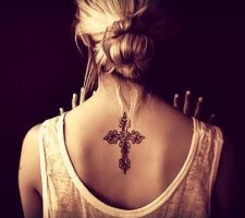 Beautiful Cross Tattoos for Women