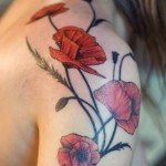 California Poppy Tattoo Design