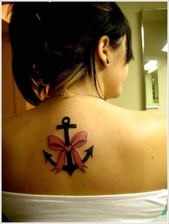 Girly Anchor Tattoos for Girls