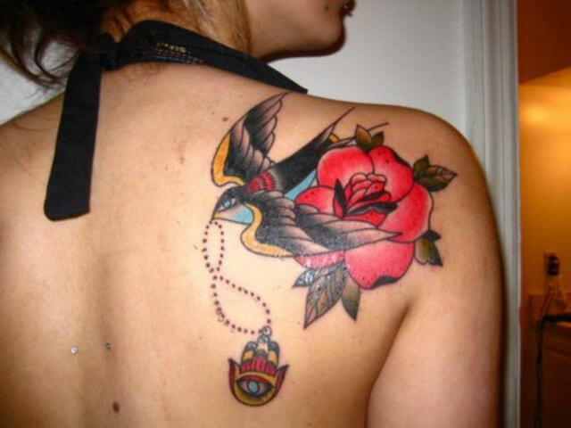 Beautiful Rose Tattoo Designs for Womens