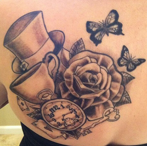 Alice Wonderland Art Tattoos