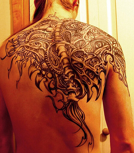 Amazing Biomechanical Tattoo Ideas