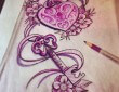 Amazing Lock and Key Tattoo Design