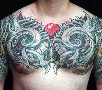 Mechanic Tattoos and Bio-Mechanical Tattoo Designs
