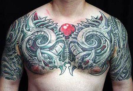 Bio-mechanical Tattoos Design