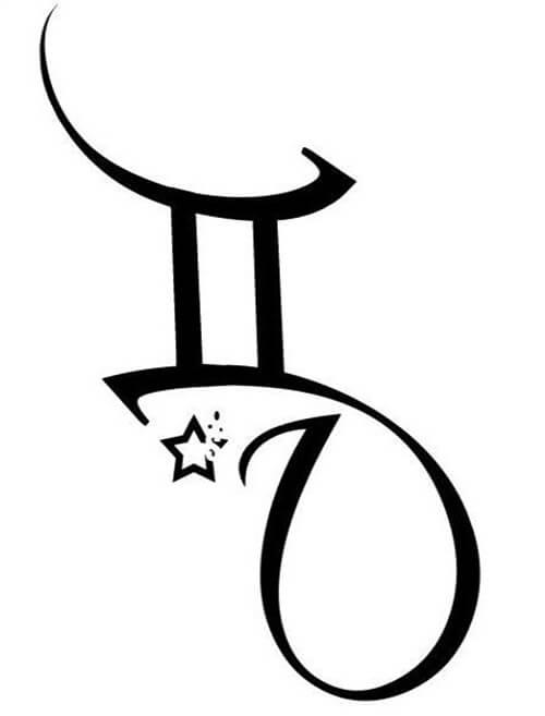 Gemini Twins Black and White Tattoo