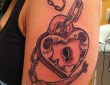 Heart Lock and Key Tattoo