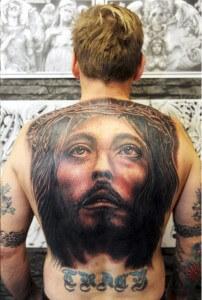 Amazing Jesus Back Tattoo Design