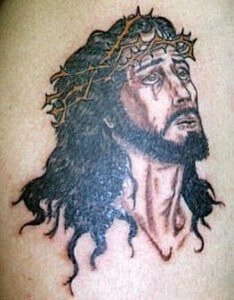 Awesome Tattoo of Jesus in Prayers